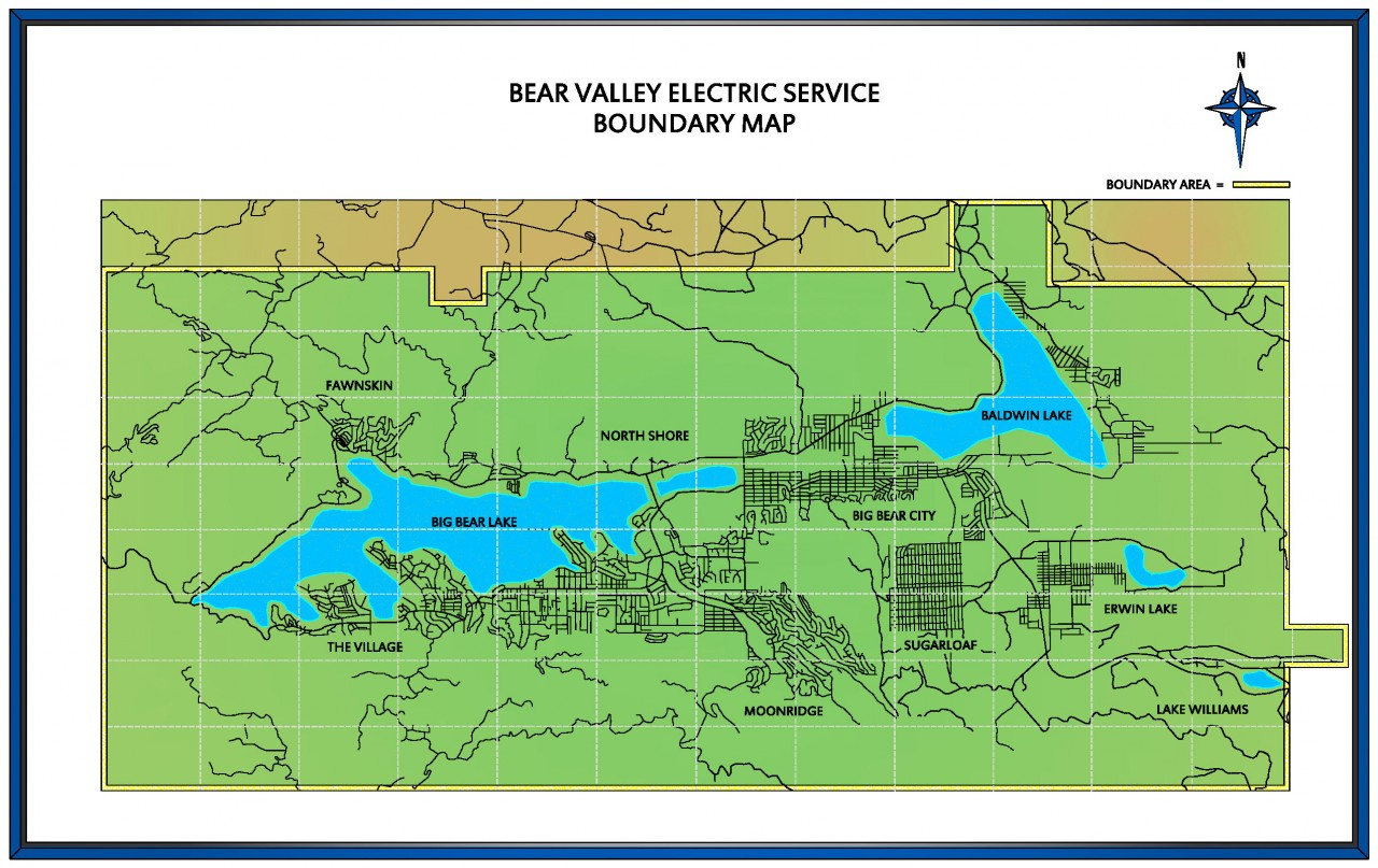 Bear Valley Electric Service, Inc. boundary map